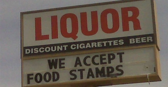 liquor food stamps