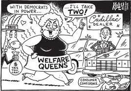 welfare queen cartoon